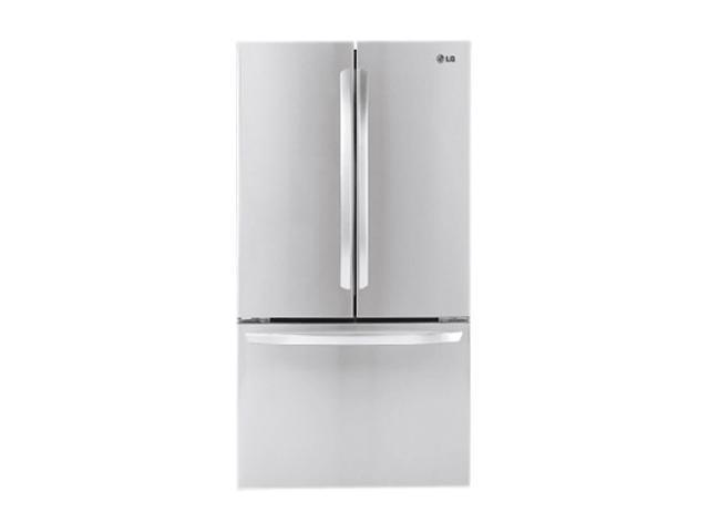 20.7 cu. ft. Counter-Depth French Door Refrigerator with 4 Split Spill Protector Glass Shelves, Glide N' Serve Drawer, IcePlus, ...
