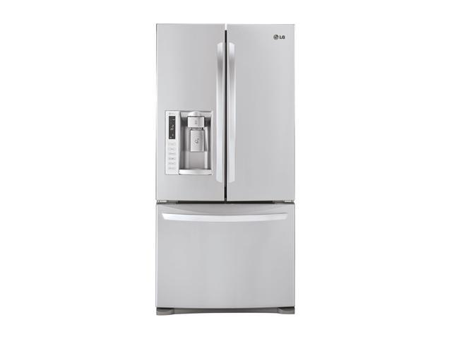 24.9 cu. ft. French Door Refrigerator with 4 Tempered Glass Shelves, 2 Humidity Crispers, Slim SpacePlus Ice System, Tall ...