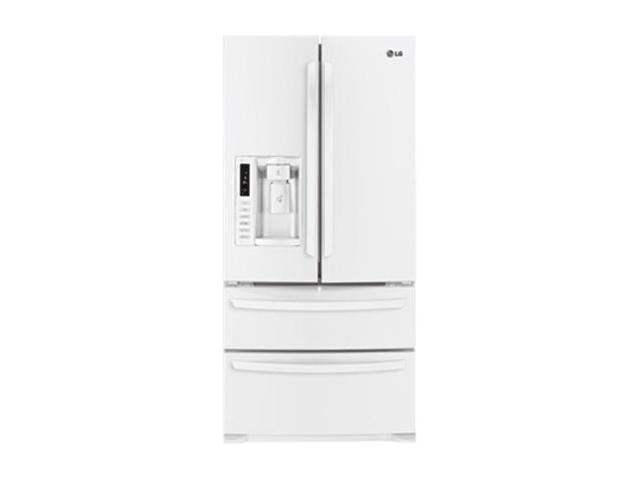 LG 24.7 cu. ft Ultra Capacity 4 Door French Door Refrigerator White LMX25988SW