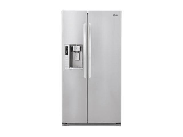 LG 23.5 cu. ft. Side-By-Side Counter Depth Refrigerator Stainless Steel LSC24971ST