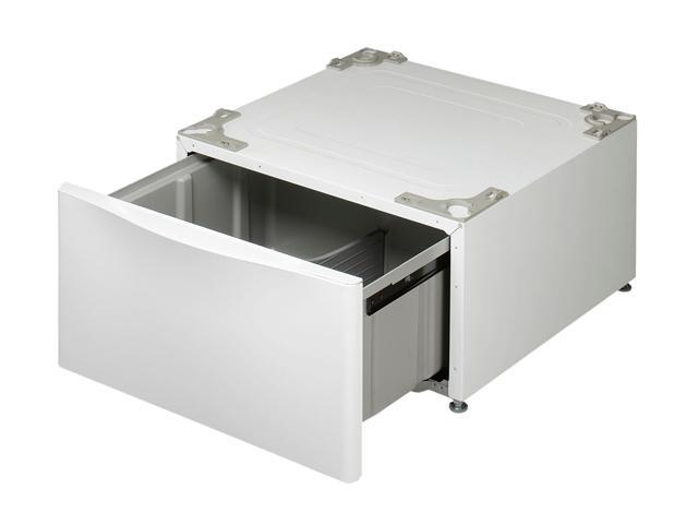 lg pedestal wdp4w lg wdp4w laundry pedestal with drawer white newegg ca 823