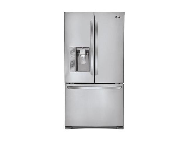 30.7 cu. ft. French Door Refrigerator with Spill Protector Glass Shelves, Humidity Crispers, Air/Water Filters and External Ice/Water Dispenser: Stainless Steel