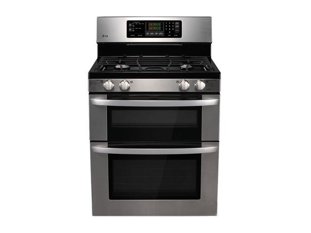 LG Freestanding Gas Double Oven LDG3011ST Stainless Steel
