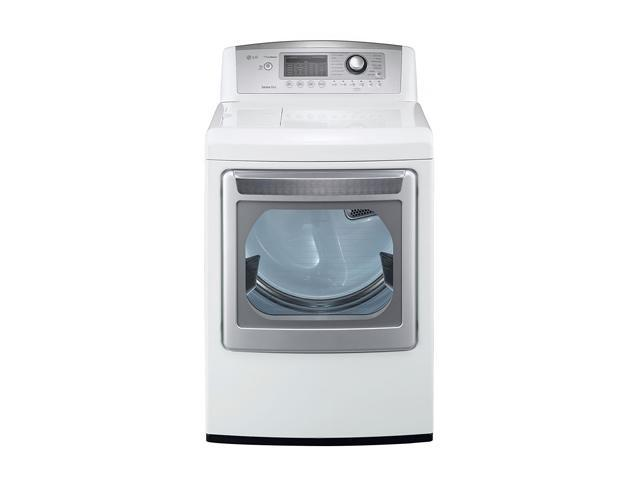 LG DLGX5171W White 7.3 cu.ft. Gas 7.3 cu.ft. Ultra-Large Capacity SteamDryer