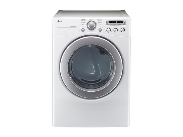LG DLE2250W White Electric 7.1 cu. ft. Extra Large Capacity Dryer with Sensor Dry