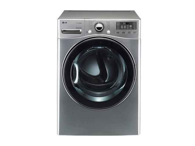 LG DLGX3471V Graphite Steel 7.3 cu. ft. Gas Ultra Large SteamDryer with Dual LED Display