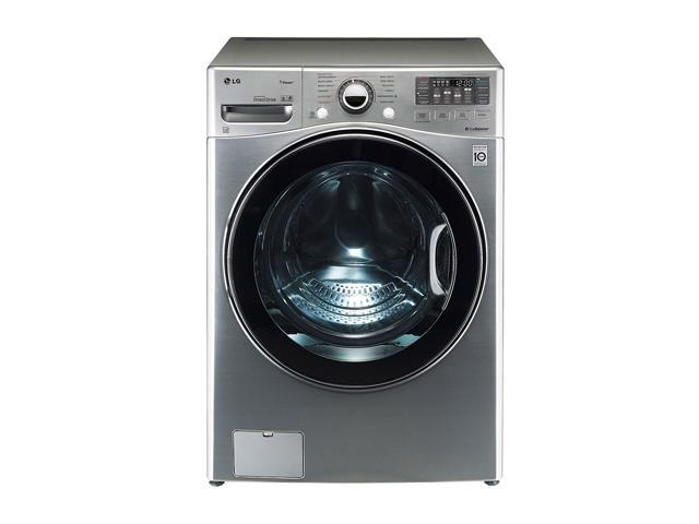 LG WM3470HVA Graphite Steel 4.0 cu.ft. Front-Loading Large Capacity TurboWash Washer with Steam Technology