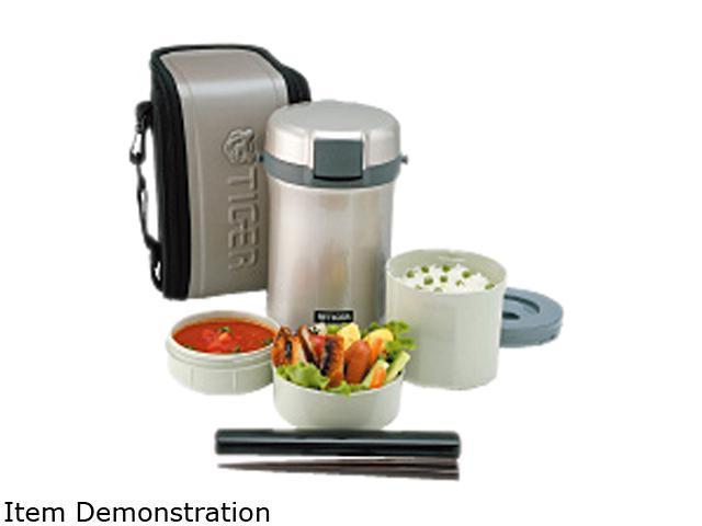 tiger lwub170se4 lunch box set incl rice container soup. Black Bedroom Furniture Sets. Home Design Ideas