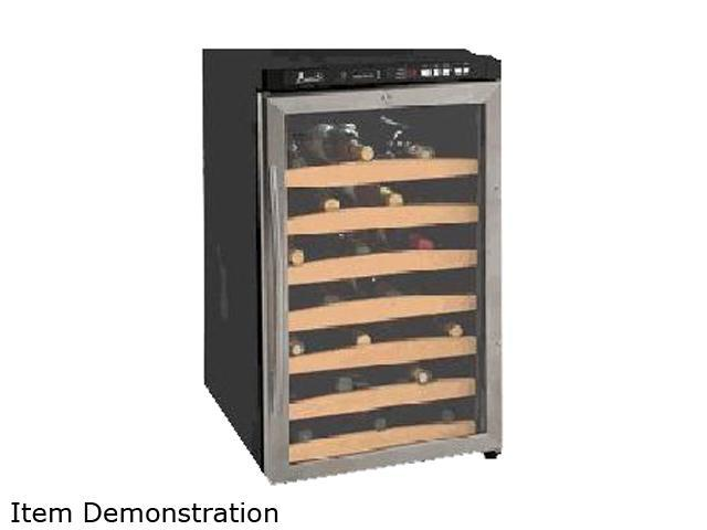 Avanti WC400SS 40-Bottle Wine Chiller with Electronic Display Black Cabinet with Stainless Steel Trim