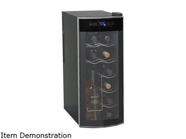 12 Bottle Wine Fridge Part - 34: Avanti EWC1201 12-Bottle Thermoelectric Counter Top Wine Cooler,  Platinum/Black