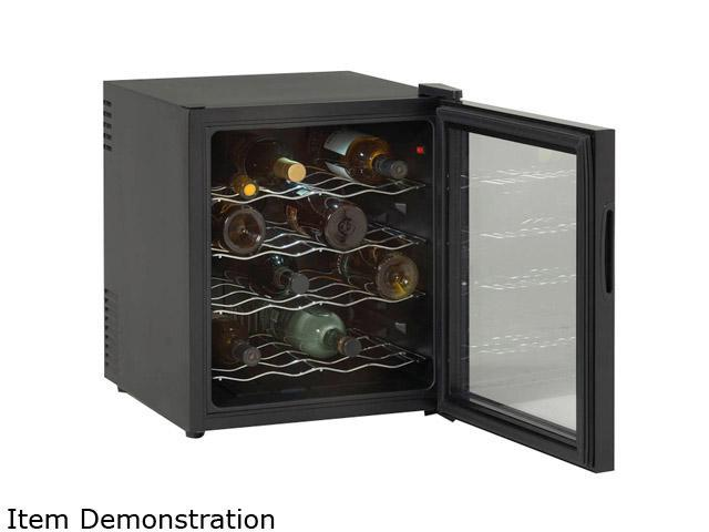 Avanti EWC1601B 16-Bottle Thermoelectric Wine Cooler Black w/Glass Door