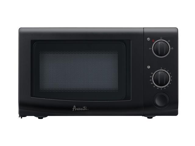 Avanti 700 Watts Mechanical Microwave Oven MO7221MB Black