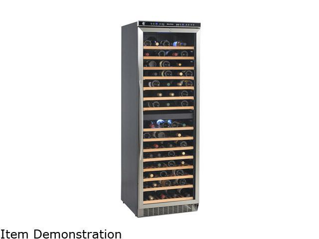 Avanti WCR683DZD2 149-Bottle Wine Cooler - Dual Zone Black with Stainless Steel