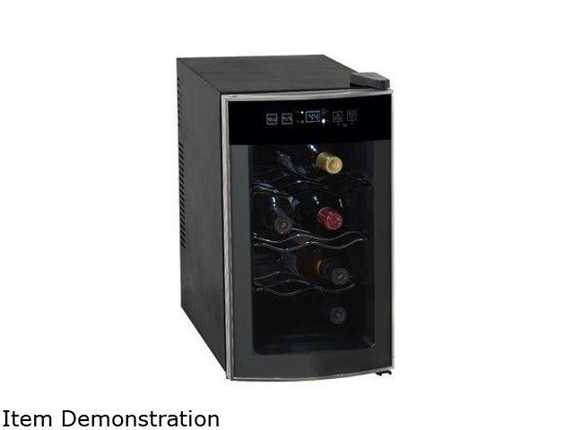 Avanti EWC801 8-Bottle Thermoelectric Counter Top Wine Cooler Black / Platinum