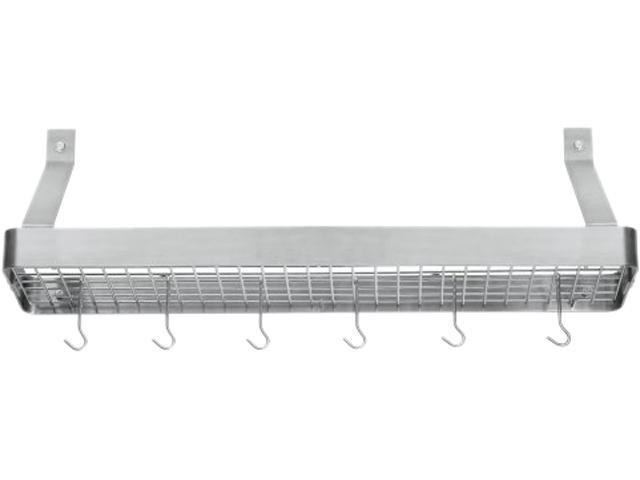 Cuisinart  CRBS-36B  36-Inch Rectangular Bookshelf Rack, Brushed Stainless