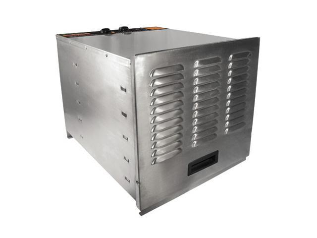 WestonSupply 74-1001-W Silver Stainless Steel Food Dehydrator