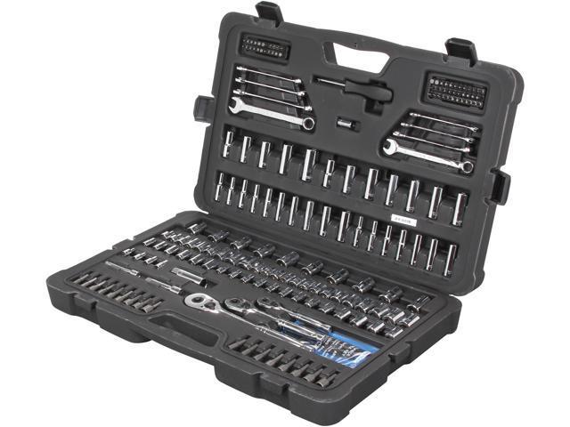 Stanley STMT71654 201-Piece Mechanics Tool Set / wrenches / Regular Sockets / Deep sockets / Round Head Ratchets