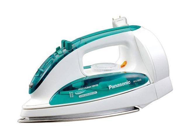 Panasonic NI-C78SR Steam/Dry Electric Iron With Curved Soleplate White