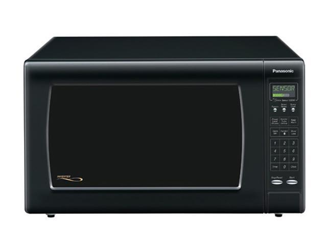 Panasonic 1250 Watts Full-Size 2.2 cu. ft. Microwave Oven NNH965BF Sensor Cook Black