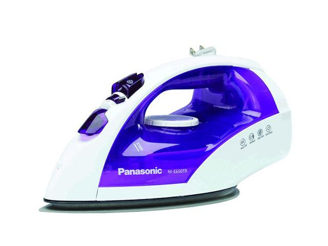 Panasonic NIE650TR Steam/Dry Iron with Curved Soleplate White w/ Violet