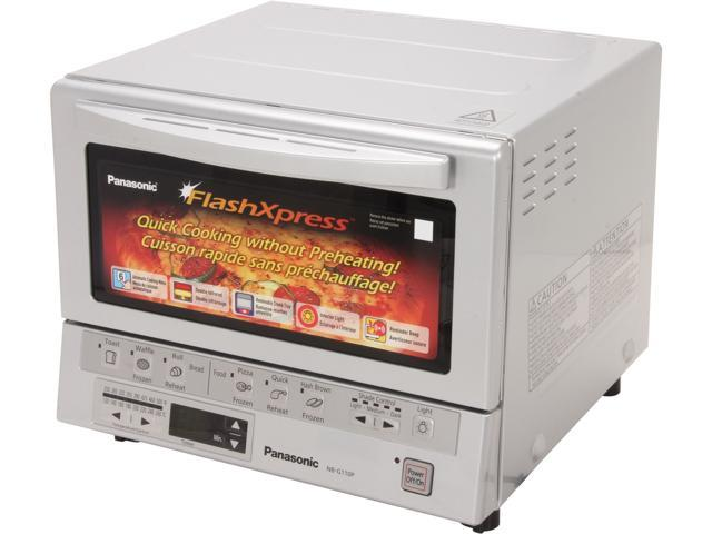Panasonic NB-G110P FlashXpress Toaster Oven with Double Infrared Heating, Silver
