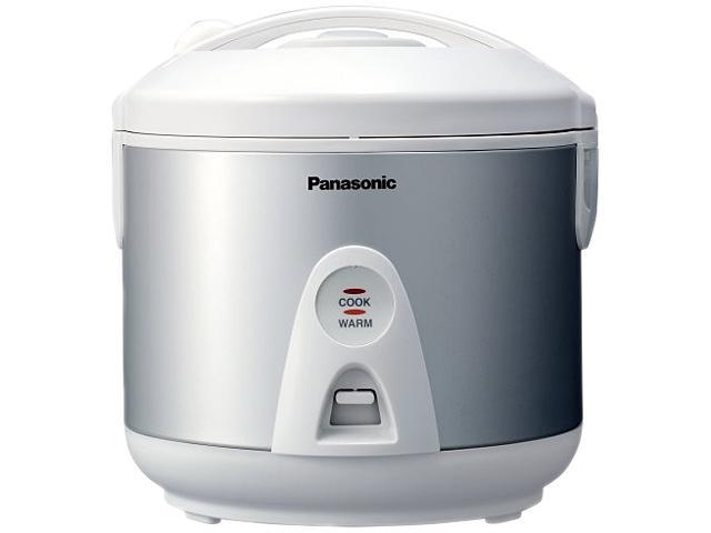 Panasonic SR-TEG18 Silver Automatic Rice Cooker with Steaming Feature