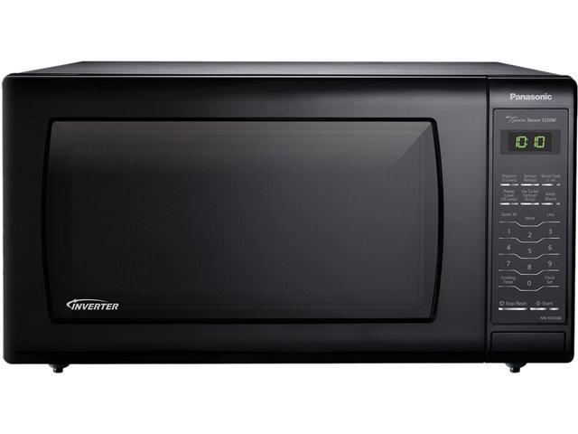 Panasonic 1250 Watts Black 1 6 Cu Ft Countertop Microwave Oven With Inverter Technology Nn