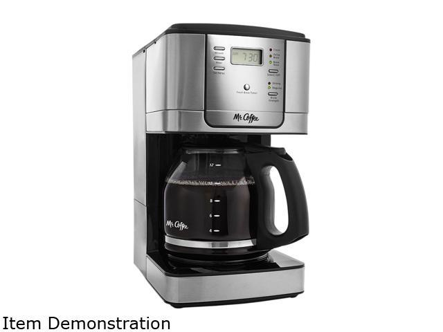 Mr. Coffee JWX Series 12-Cup Programmable Coffeemaker, Stainless Steel, JWX31-RB