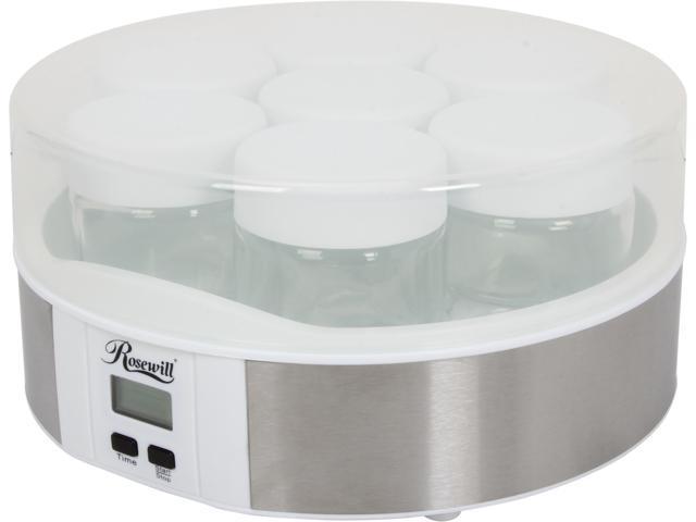 Rosewill RHYM-13001 7 Glass Cups Digital Yogurt Maker