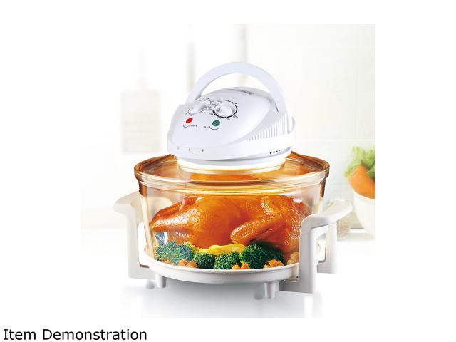 Red 1200 w 8 Slice Halogen Heating Stainless Steel Rings Convection Toaster Oven