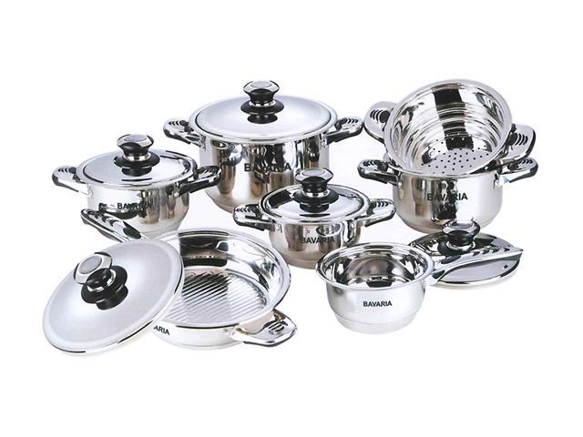 Bavaria EDELSTAHL 12-Piece Bidermayer Cookware Set Stainless steel