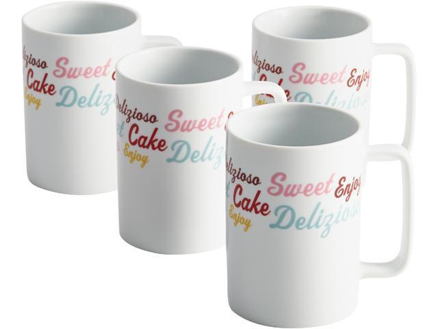 Cake Boss  58677  Serveware 4-Piece Porcelain Mug Set,