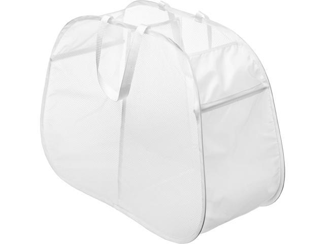 Whitmor 6233-4103-WHT Pop Fold Double Hamper White