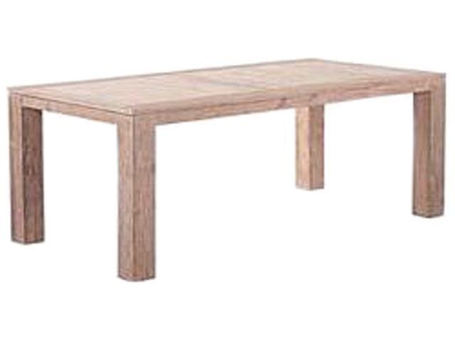 Emerald Home Furnishings  REIMS TEAK DINING TABLE  Mira Weathered Teak Dining Table
