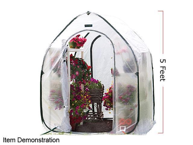 FlowerHouse FHPH155 5-ft PlantHouse Greenhouse