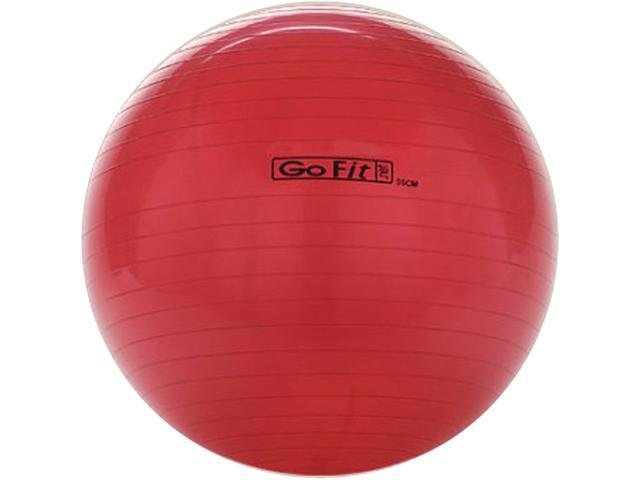 GoFit GF-55BALL Exercise Ball With Pump (55 Cm; Red)