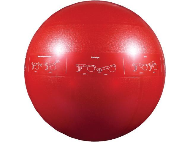GoFit GF-65PRO Professional Stability Ball & Core Performance Training DVD (65 Cm; Dark Purple)
