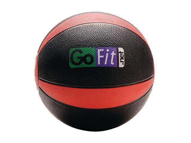GoFit GF-MB8 Medicine Ball & Core Performance Training DVD (8 Lbs&#59; Black & Red)