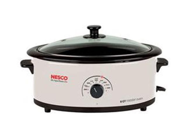 NESCO 481614G White 6 Qt. 6qt Ivory Roaster Oven