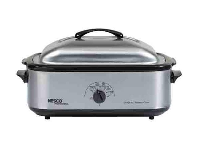 NESCO 481825PR Stainless Steel 18 Qt. Professional 18-Quart Roaster Oven, Stainless Steel