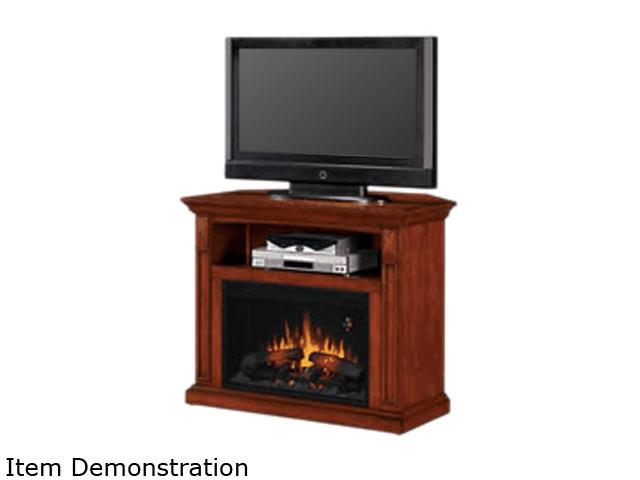 ClassicFlame Electric Fireplace Fairmont Home Theater Dual Mantel Vintage Mahogany