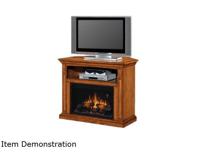 "ClassicFlame 40"" Width Electric Fireplace Fairmont Home Theater Dual Mantel Antique Oak"
