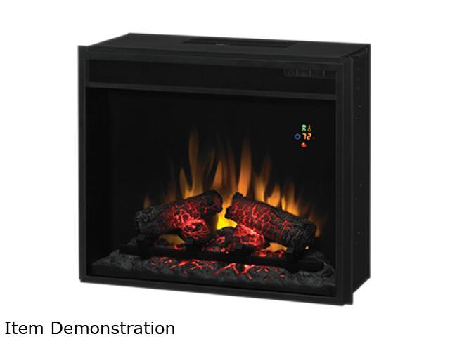 ClassicFlame Electric Fireplace Fixed Front insert with Backlit Display, with remote Black