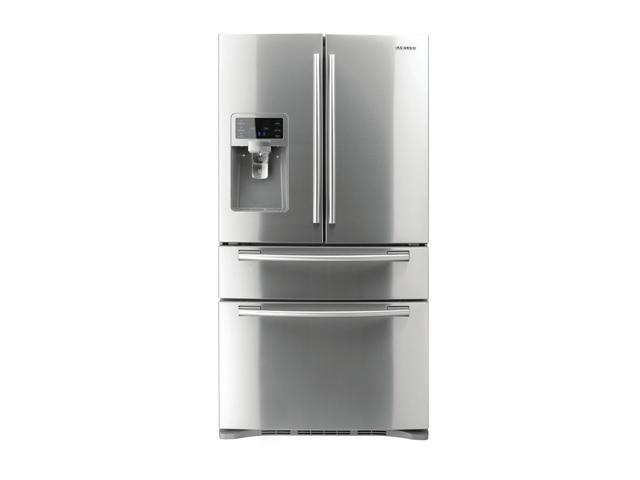Samsung RF4287HARS 28.0 cu.ft. Stainless Steel Counter-Height French Door Refrigerator with 5 Spill Proof Glass Shelves, ...