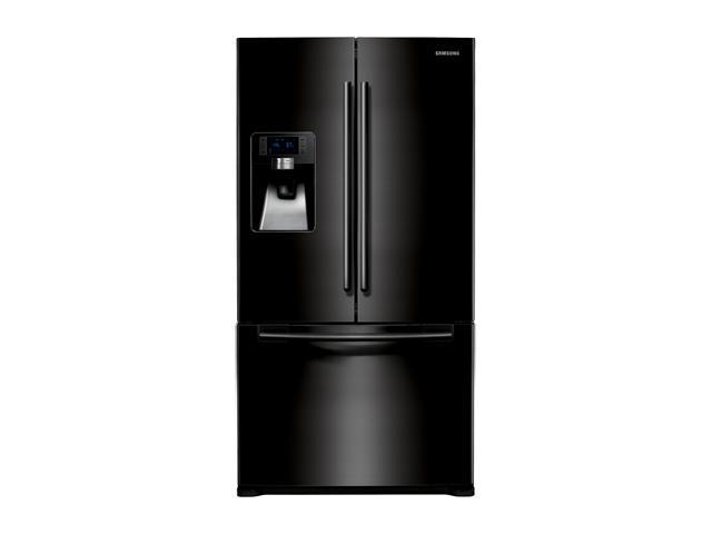 28.5 cu. ft. French Door Refrigerator with Spill Proof Glass Shelves, Cool Select Pantry, Power ze/Cool Options and External Ice/Water Dispenser: Black Pearl
