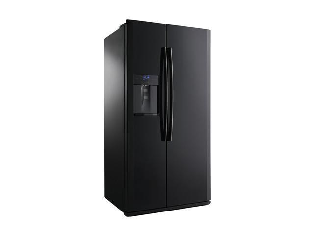 24.1 cu. ft. Counter-Depth Side by Side Refrigerator with 4 Spill Proof Glass Shelves, Twin Cooling Plus, Power ze/Cool Options, External Ice/Water Dispenser, In-Door Ice Maker, LED Lighting and Wine