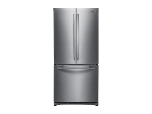 17.8 cu. ft. Counter-Depth French Door Refrigerator with 3 Adjustable Glass Shelves, Humidity Controlled Crispers, Ice Maker, LED Lighting and Internal Digital Display: Stainless Steel