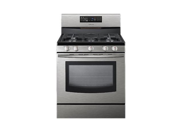 SAMSUNG 5.8 cu. ft. Freestanding Gas Range with Fan Convection FX510BGS Stainless Steel