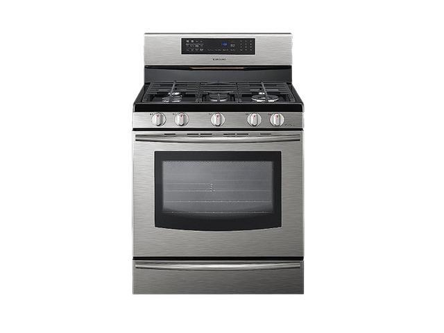 SAMSUNG 5.8 cu ft Freestanding Gas Range with True Convection FX710BGS
