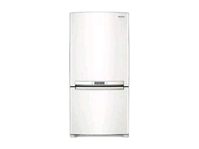 18 cu. ft. Counter-Depth Bottom-zer Refrigerator with Slide Out Glass Shelves, Twin Cooling, LED Lighting, External Digital Controls, Power ze/Cool and Ice Maker: White Pearl